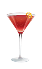 The 21 Cranberry Juice is a red colored cocktail made from Smirnoff vodka, cranberry juice and lime, and served in a chilled cocktail glass.