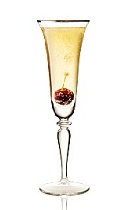 The 24:75 is a modern variation of the classic French 75 cocktail dating back to World War I. Made from Beefeater 24 gin, Sencha green tea syrup, lemon juice and chilled champagne, and served in a chilled champagne flute.