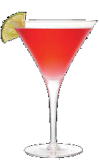 The 3-O Grape Cosmo is an English variation of the classic Cosmopolitan cocktail recipe. A red colored drink made from Three olives grape vodka, triple sec, cranberry juice and lime juice, and served in a chilled cocktail glass.