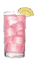 The Mango Tango is a sweet and saucy pink colored cocktail made from Three Olives mango vodka, coconut rum, pineapple juice and cranberry juice, and served over ice in a highball glass.
