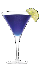 The Purple Rain cocktail recipe is a purple colored drink made from Three Olives Purple vodka, cranberry juice, sour mix and club soda, and served in a chilled cocktail glass.