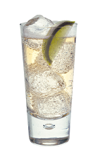The 57 Mule is a clear colored drink made from Smirnoff vodka, ginger ale and lime, and served over ice in a highball glass.