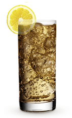 The 9 Spiced Ale drink recipe is made from Cruzan 9 spiced rum, ginger ale and lemon, and served over ice in a highball glass.