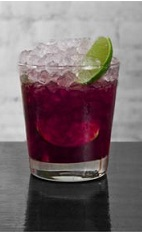 The Acai Caipirinha is a purple colored masterpiece of the classic Brazilian Caipirinha drink recipe. Made from Cedilla acai liqueur, Leblon cachaca, simple syrup and lime, and served over crushed ice in a rocks glass.
