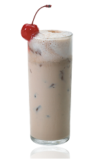 The Amalyser is a brown colored drink made from Amarula cream liqueur, vodka, Kahlua coffee liqueur and Coca-Cola, and served over ice in a highball glass.