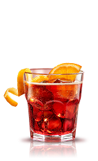 The Americano is a classic Italian cocktail given its name due to a large number of Americans drinking the cocktail in the early 1900s. A red drink made from Campari, sweet vermouth and club soda, served over ice with an orange slice.