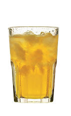 The Anochecer drink recipe is made from Lunazul reposado tequila, mint, lime juice and ginger beer, and served over ice in a highball glass.