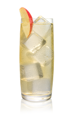 The Apple Ginger drink is made from Stoli Gala Applik apple vodka and ginger ale, and served over ice in a highball glass.