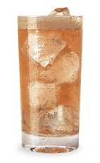 The Apple Spazz is an orange colored drink made from Razzmatazz raspberry schnapps, Pucker sour apple schnapps, sour mix and lemon-lime soda, and served over ice in a highball glass.