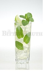The Apricot Mojito is a refreshing variation of the classic Mojito drink.  Made from white rum, apricot liqueur, lime juice, simple syrup, mint and club soda, and served over ice in a highball glass.