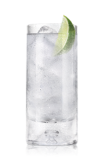 The Arctic Grape Soda is a clear drink made from Bacardi Arctic Grape rum and lemon-lime soda, and served over ice in a highball glass.