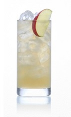 The Aubrey Cloud drink is a dry, sweet and aromatic drink made from Caorunn gin, apple juice, St-Germain elderflower liqueur, bitters and ginger ale, and served over ice in a highball glass.