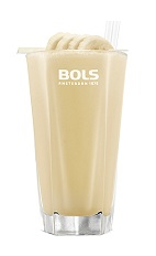 The Banana Smoothie is a smooth cream colored drink made from Bols Natural Yoghurt liqueur and a medium banana, and served in a chilled highball glass.
