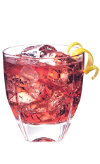 The Bay Breeze PAMA is a fruity variation of the classic Bay Breeze drink recipe. A red colored drink made from PAMA pomegranate liqueur, cranberry juice and pineapple juice, and served over ice in an old-fashioned glass.