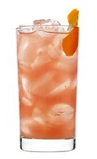 The Bay of Passion drink recipe is a peach colored cocktail designed to make your Valentine's Day come with a happy ending. Made from 42 Below Passion vodka, cranberry juice, pineapple juice and ginger, and served over ice in a highball glass.