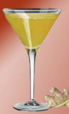 The Bigger than Ben cocktail recipe is made from Xante cognac, Cointreau orange liqueur, lemon juice and ginger, and served in a chilled cocktail glass.