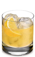 The Bitter Orange is an orange colored drink made from Ketel One Oranje vodka, honey anisette liqueur, Peychaud bitters and orange juice, and served over ice in a rocks glass.