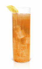 The Black Cherry Jubilee is made from Effen black cherry vodka, apple juice, ginger beer, lemon juice and cinnamon, and served over ice in a Collins glass.