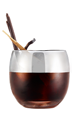 The Black Russian Galliano is an Italian alternative to the classic Black Russian drink. Made from Galliano Ristretto liqueur and vodka, and served over ice in a rocks glass.