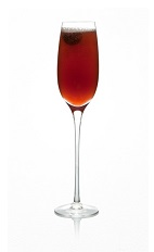 The Blackberry Pear Bellini is a Celtic version of the classic Bellini cocktail. A red colored drink made from Caorunn gin, blackberry brandy, pear juice and chilled champagne, and served in a chilled champagne flute.
