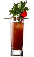 The Bloody Delicious drink recipe is a variation of the classic Bloody Mary drink recipe, better known as the breakfast in a glass. A red colored drink made from UV Vodka, tomato juice, celery salt, Tabasco sauce and Worcestershire sauce, and served over ice in a highball glass.