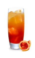 The Bloody Sunrise is variation of the classic Tequila Sunrise drink. An orange drink, made from tequila, blood orange liqueur, orange juice and grenadine, and served over ice in a highball glass.