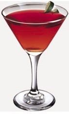 The Blue Raz Cosmo drink recipe is a red colored cocktail made from Burnett's blueberry vodka, raspberry liqueur, sweet & sour mix and lime juice, and served in a chilled cocktail glass.