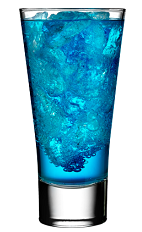 The Blue Russian is a a fruity member of the Russian family of drinks. A blue drink made from Rose's blueberry cordial, vodka and 7-Up, and served over ice in a highball glass.