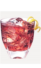The Blueberry Cran Smash drink recipe is a red colored cocktail made from Burnett's blueberry vodka, lemonade and cranberry juice, and served over ice in a rocks.