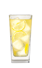 The Blueberry Lemonade is made from Smirnoff citrus vodka, Smirnoff blueberry vodka, orange liqueur and lemon-lime soda, and served over ice in a highball glass.
