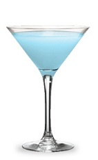The Blueberry Pie is a blue cocktail made from blueberry schnapps, vanilla liqueur, blue curacao and half-and-half, and served in a chilled cocktail glass.
