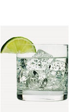The Blueberry and Soda is a clear colored drink recipe made from Burnett's blueberry vodka and club soda, and served over ice in a rocks glass.
