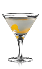 The Boadas Cocktail is a clear colored cocktail made from Bacardi rum, Cointreau and lime juice, and served in a chilled cocktail glass.