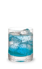 The Boo-Berry is a snappy Halloween drink perfect for a chilly fall evening. A blue drink, made from Pucker Berry Fusion schnapps, vodka and lemon-lime soda, and served over ice in a rocks glass.