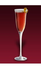 The Bowery Cocktail recipe is made from Dubonnet Rouge, gin, brown sugar cube, bitters and chilled champagne, and served in a chilled champagne flute.