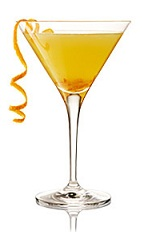 The Breakfast Martini is a refreshing way to start your day. An orange cocktail made from gin, Cointreau, lemon juice and orange marmalade, and served in a chilled cocktail glass.