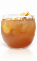 The Brunch Punch is a fruity drink recipe perfect for lunch or relaxing by the pool. Made from Effen vodka, sweet tea, orange liqueur, lemon juice and orange marmalade, and served over ice in a rocks glass.