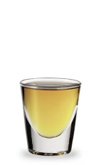The Butter Beam is an orange shot made from butterscotch schnapps and Jim Beam bourbon, and served in a chilled shot glass.