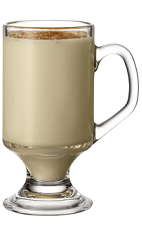 The Butter Bean drink recipe is made from Kamora coffee liqueur, butterscotch schnapps and milk, and served in a coffee mug topped with a pinch of cinnamon.