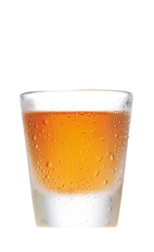 The Butter Comfort is an orange colored shot made from Southern Comfort and butterscotch schnapps, and served in a chilled shot glass.