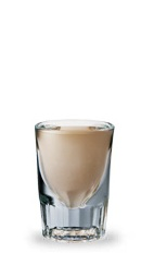 The Butter Cup is a brown shot made from butterscotch schnapps, dark creme de cacao and Bailey's Irish cream, and served in a chilled shot glass.