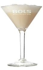 The Butterscotch Dessert is a relaxing cream colored cocktail perfect for Christmas or any dessert. Made from butterscotch schnapps, brandy, milk, simple syrup and Bols banana foam, and served in a chilled cocktail glass.
