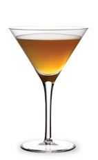The Cable Car is a variation of the classic Sidecar cocktail. An orange cocktail made from Cointreau, spiced rum and sour mix, and served in a chilled cocktail glass.