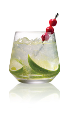 The Caipiroska Cranberi is a variation of the classic Brazilian Caipiroska drink. Made from Stoli Cranberi vodka, lime wedges and agave nectar, and served in an old-fashioned glass.