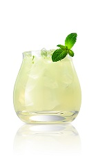 Let the green fairy in tonight and enjoy the party. The Cali Absinthe cocktail recipe is a clear colored drink made from Caliche rum, Batavia arrack, lime juice, simple syrup and mint, and served over ice in a rocks glass.