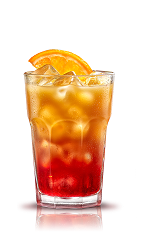 The Campari Orange is an orange drink made from Campari, orange juice and an orange slice, and served over ice in a highball glass.