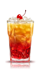 The Campari Orange Passion is an orange drink made from Campari, orange, brown sugar and orange juice, and served over ice in a highball glass.