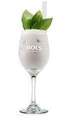 The Carnation is a sweetly scented cocktail made from genever, parfait amour, lemon juice, champagne and basil leaves, and served over ice in a sour glass or wine glass.