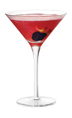 The Chambord Comsmopolitan cocktail is made from vodka, Chambord raspberry liqueur, Cointreau, cranberry juice and lime juice, and served in a chilled cocktail glass.