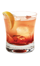 The Chambord Lemonade drink is made from Finlandia vodka, Chambord raspberry liqueur and lemonade, and served with ice in a rocks glass.